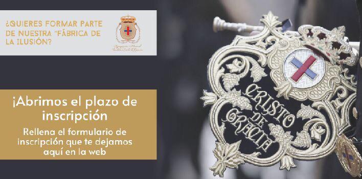 Plazo Inscripción Cristo de Gracia 2020